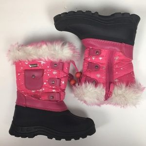 Dream Pairs Waterproof Thinsulate Pink Snow Boots